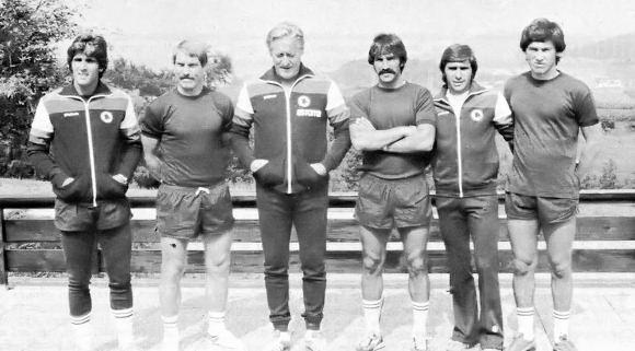 La nuova Roma 1979/80: Turone, Benetti, Liedholm, Amenta, Bruno Conti e Ancelotti