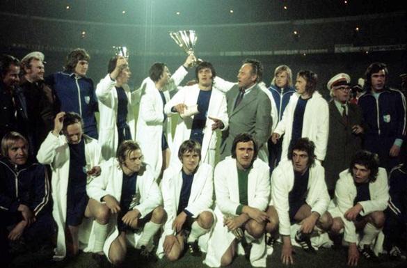 Il Magdeburgo con la Coppa delle Coppe 1974