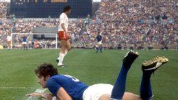 Polonia-Italia 2-1, Giorgio Chinaglia a terra