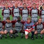 26th MAY 1999. UEFA Champions League Final. Barcelona, Spain. Manchester United 2 v Bayern Munich 1. The Bayern Munich team line up before the match