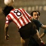Athletic Bilbao – Juventus 2-1, Coppa Uefa 1976-77 (finale di ritorno), duello aereo tra Irureta e Furino