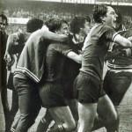 Athletic Bilbao – Juventus 2-1, Coppa Uefa 1976-77 (finale di ritorno), l-esultanza dei bianconeri dopo il goal di Bettega