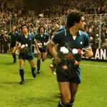 Athletic Bilbao – Juventus 2-1, Coppa Uefa 1976-77 (finale di ritorno), l-ingresso in campo dei bianconeri