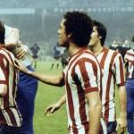 Athletic Bilbao – Juventus 2-1, finale Coppa Uefa 1976-77 (ritorno),  l-esultanza dei bianconeri