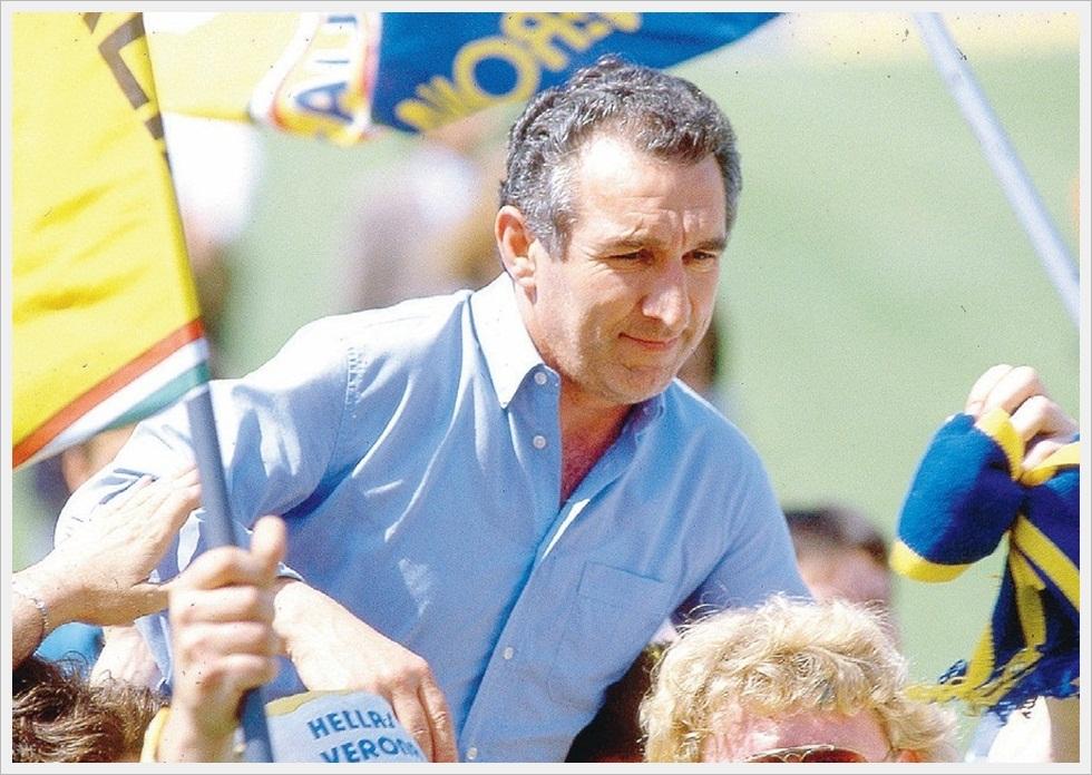 Maggio 1985: festeggiamenti per il magico scudetto del Verona di Osvaldo Bagnoli