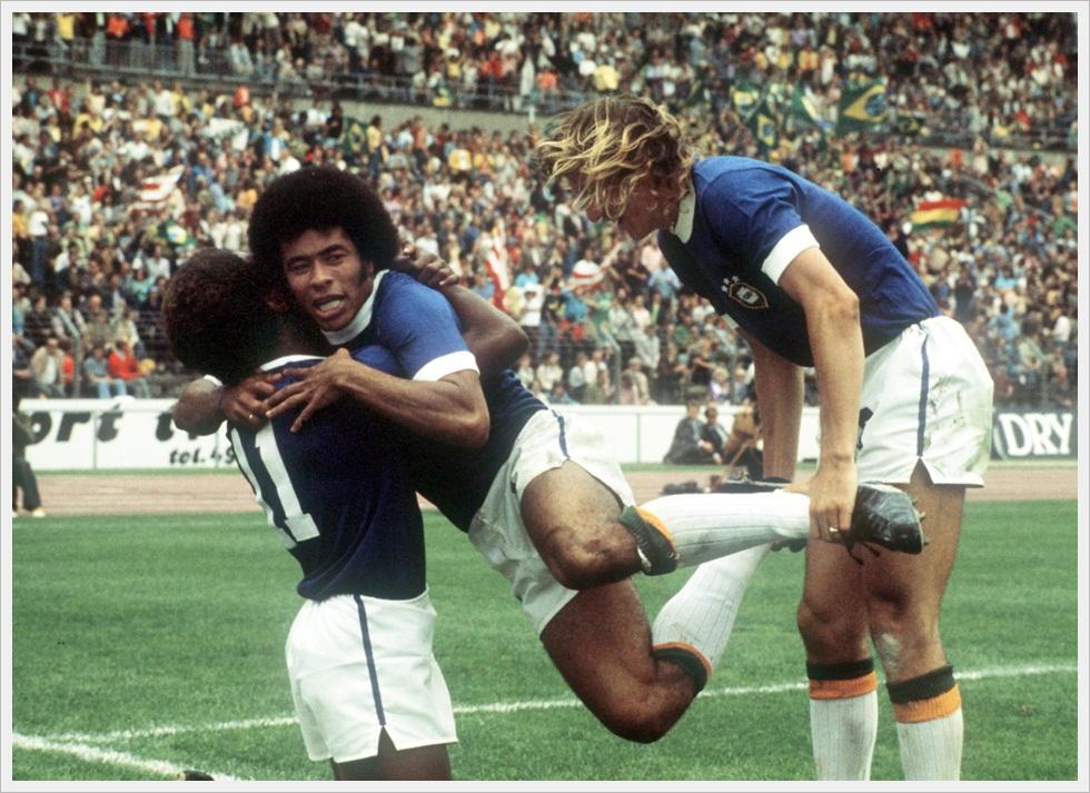 Schegge di Brasile ai Mondiali 1974: Paulo Cesar, Jairzinho e Francisco Marinho