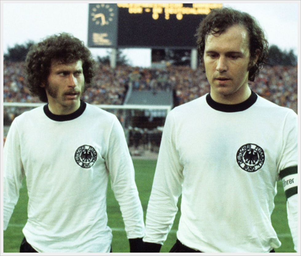 Facce tedesche anni 70: Paul Breitner e Franz Beckenbauer