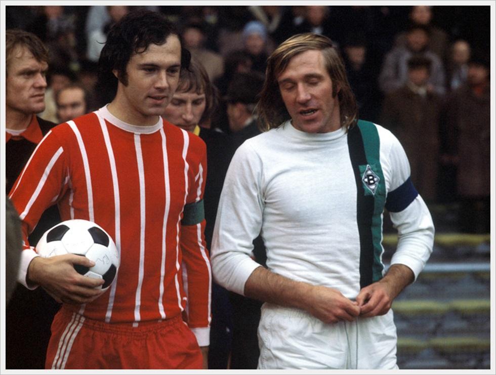 Franz Beckenbauer (Bayern) e Gunter Netzer (Borussia M'Gladbach), Bundesliga 1972-73