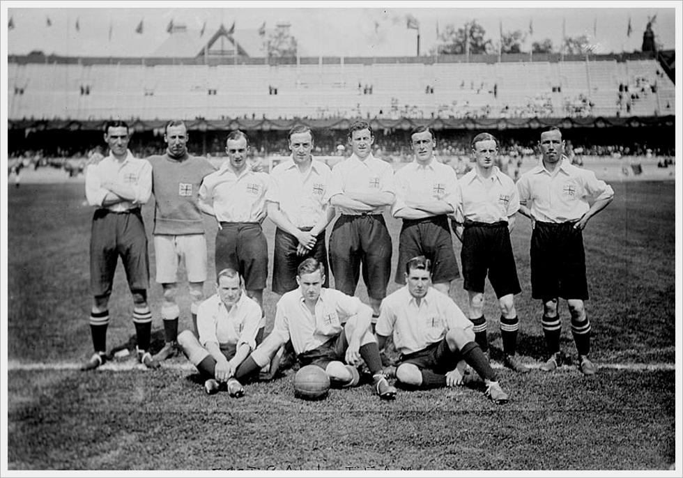 La rappresentativa della Gran Bretagna alle Olimpiadi 1912