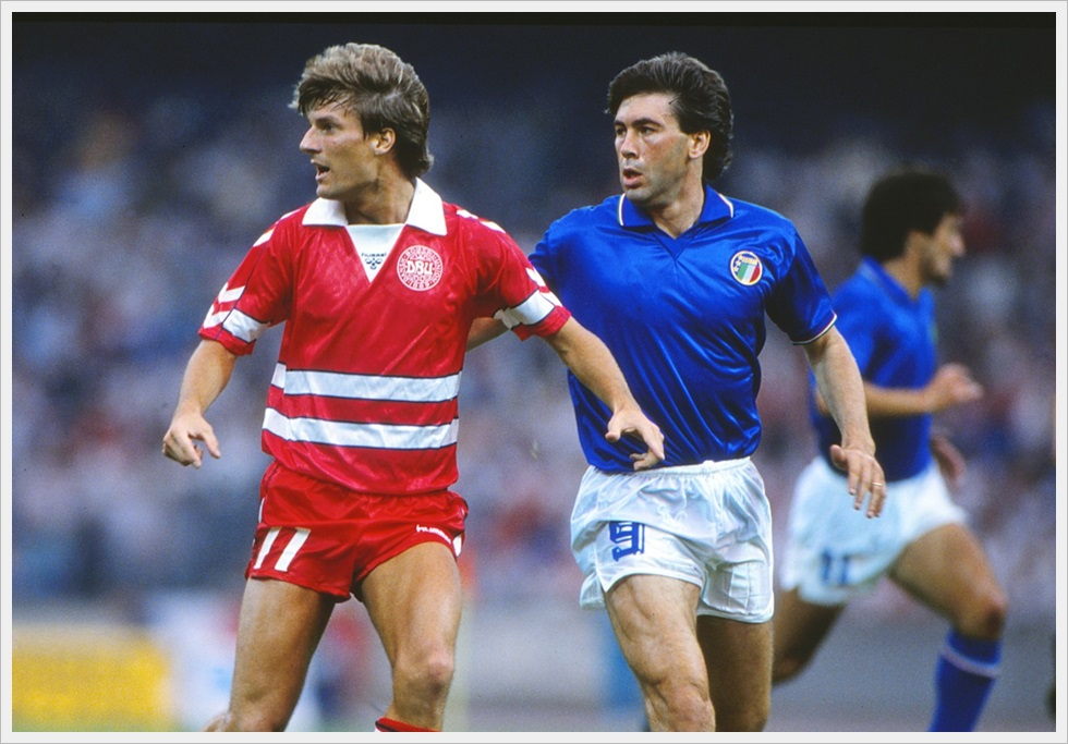 Michael Laudrup e Carlo Ancelotti a Euro 1988