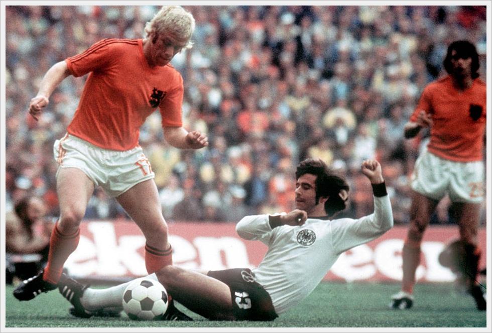 Germania Ovest-Olanda 2-1, Finale Mondiali 1974: intervento di Gerd Müller su Wim Rijsbergen
