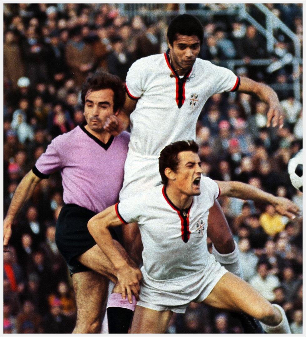 Nenè e Riva in Cagliari-Palermo 2-0 del 5 aprile 1970