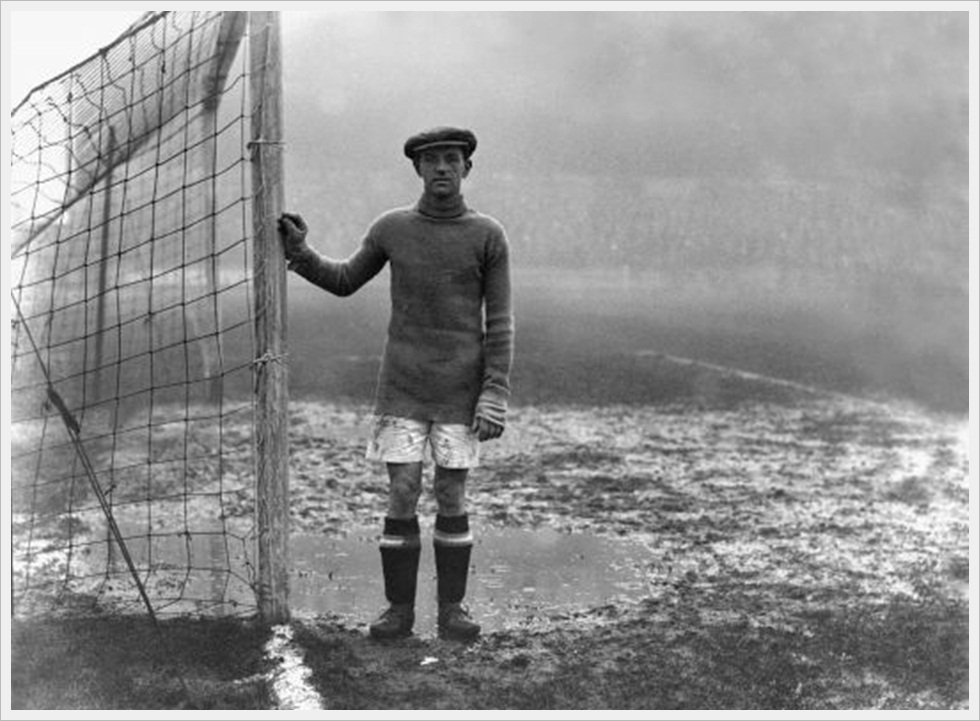 1925: William  Mercer, portiere dell'Huddersfield Town