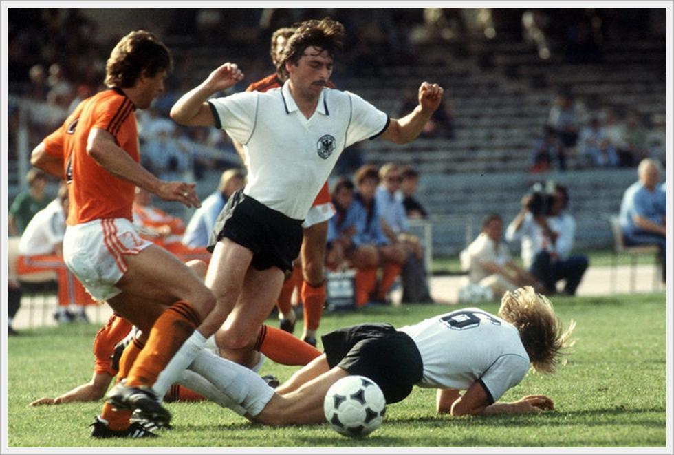 Euro 1980, Germania Ovest-Olanda 3-2. Klaus Allofs, autore di una tripletta