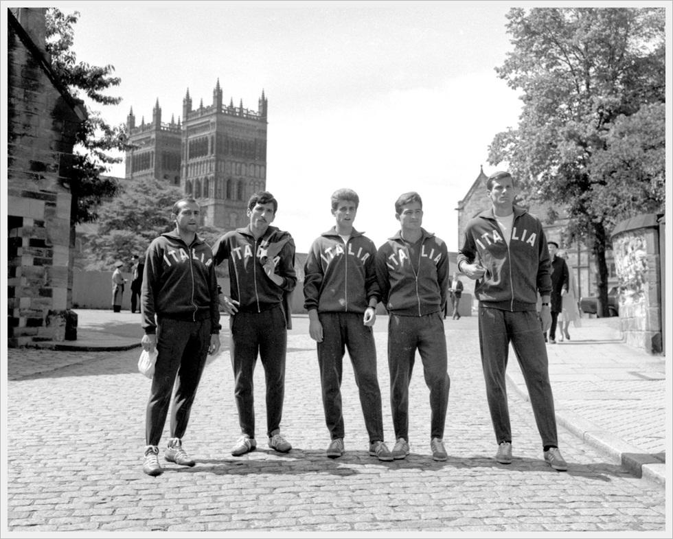 Mondiali 1966: Lodetti, Meroni, Rivera, Rizzo e Facchetti in libera uscita