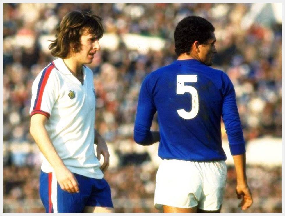 17 novembre 1976 - Italia-Inghilterra 2-0: Stan Bowles e Claudio Gentile