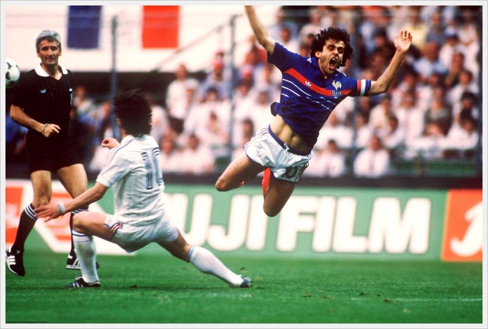 19 giugno 1984, Francia-Jugoslavia 3-2: Mehmed Baždarevic e Michel Platini