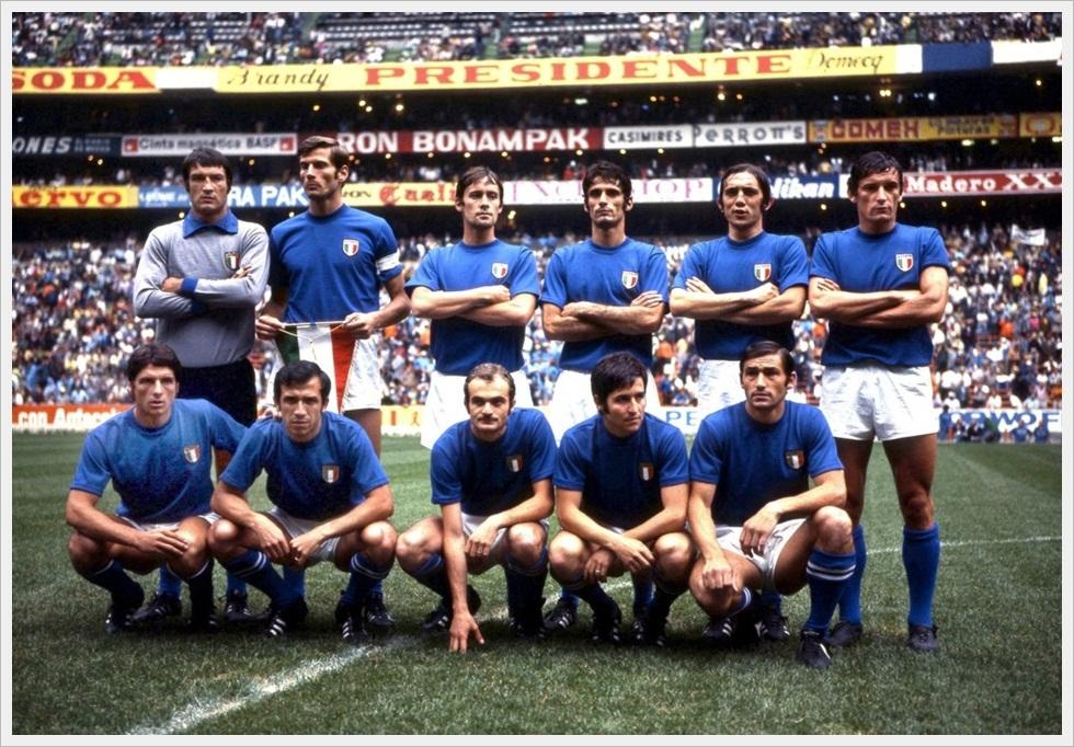 L'Italia a Messico 70 nella splendida cornice dello Stadio Azteca