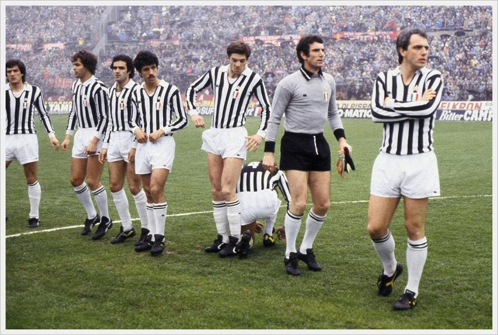 Foto di gruppo per la Juventus edizione 1978/79