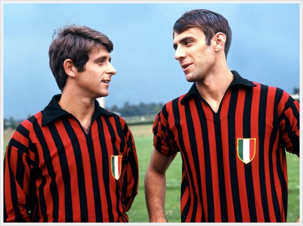 1968: Gianni Rivera e Pierino Prati freschi di scudetto
