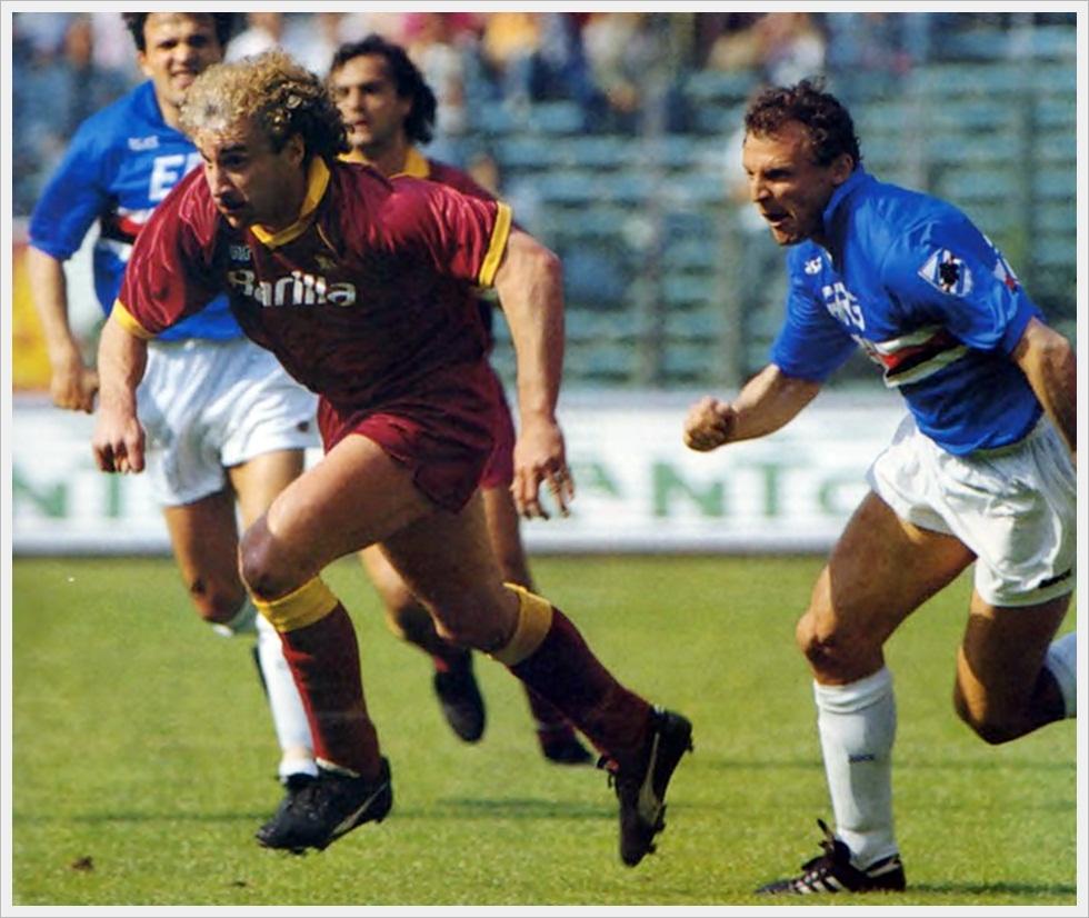 Stagione 1990/91: Rudi Voeller e Pietro Vierchowod