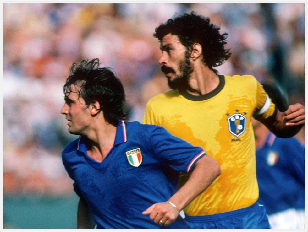 Tardelli e Socrates, Italia-Brasile 3-2 - Mondiali 1982