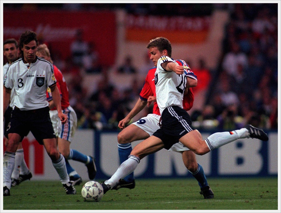 Euro 1996 - Germania-Repubblica Ceca 2-1; il golden gol di Bierhoff