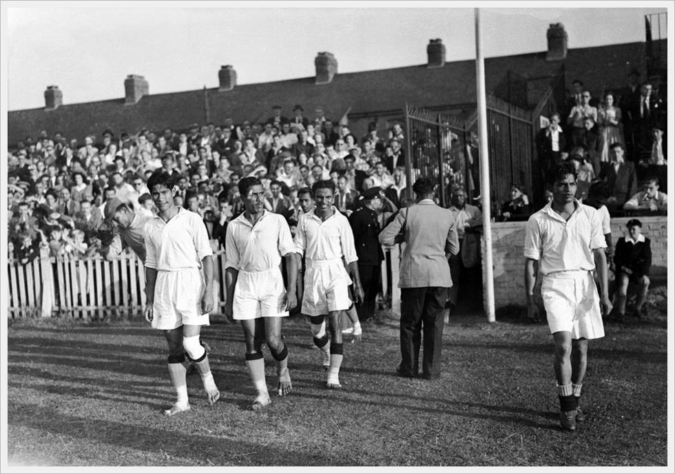 Olimpiadi 1948, India -Francia 1-2: gli indiani a piedi nudi