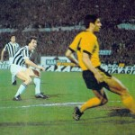 Juventus – AEK Atene 4-1, andata semifinale Coppa Uefa, Bettega segna il secondo goal dei bianconeri