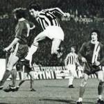 Juventus – Magdeburgo 1-0, quarto di finale di ritorno Coppa Uefa 1976-77, Bettega colpisce di testa in area tedesca