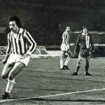 Juventus – Magdeburgo 1-0, quarto di finale di ritorno Coppa Uefa 1976-77, Causio in azione