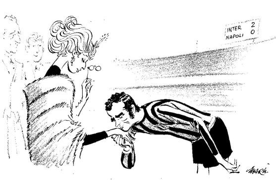 Lady Renata fraizzoli con Corso - vignetta di Marino