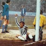 Magdeburgo – Juventus 1-3, Coppa Uefa 1976-77, Cuccureddu esulta dopo il goal