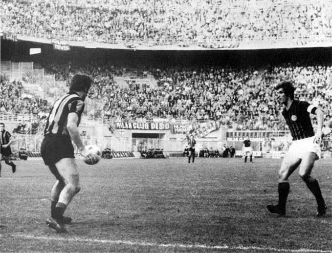 Milan – Atalanta 9-3, goal di Rivera