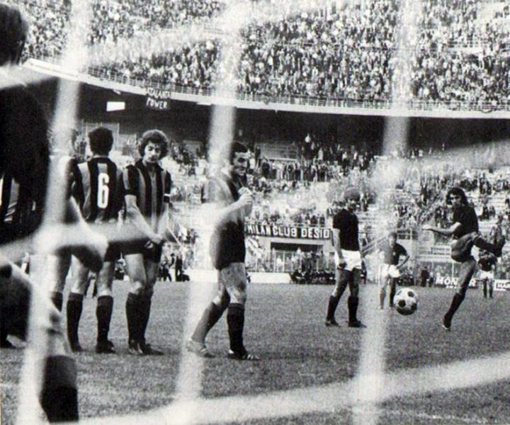Milan – Atalanta 9-3, il nono goal dei rossoneri, segnato da Prati