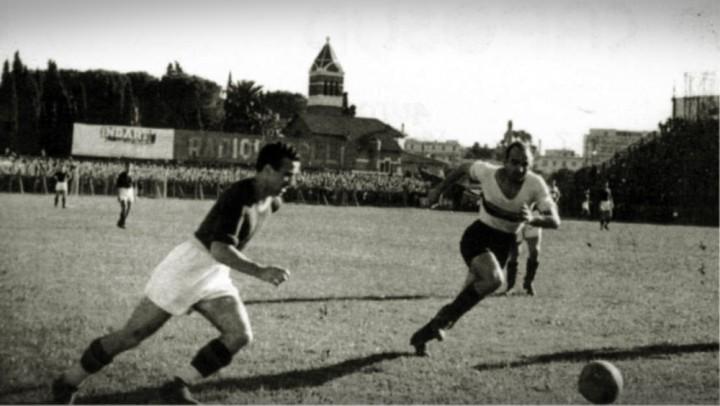 Campionato 1939/40, Roma/Liguria 2-2: Amadei in azione