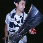 Osvaldo Ardiles With The UEFA Cup