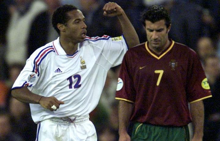 Henry e Figo, gioia e dolore nella semifinale tra Francia e Portogallo