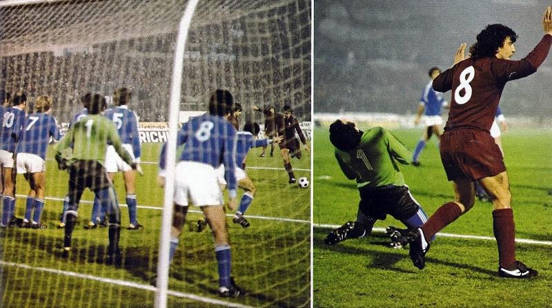 Due immagini di Bastia-Torino 2-3