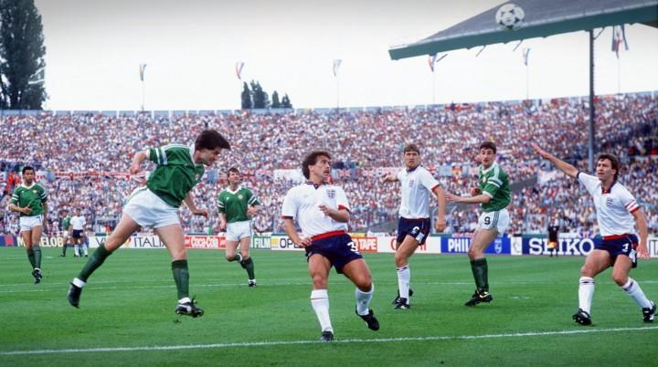L'Eire è la sorpresa di Euro 88. Qui Houghton decide di testa il derby contro l'Inghilterra