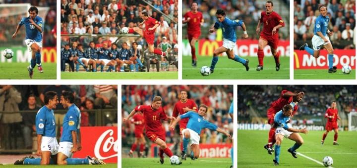 Mix di immagini di Italia-Belgio 2-0, il match che consegna agli Azzurri il primo posto nel girone