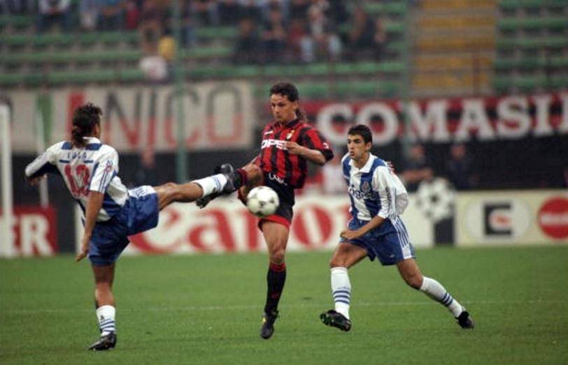 Milan-Porto 3-2: duello tra Lula e Baggio