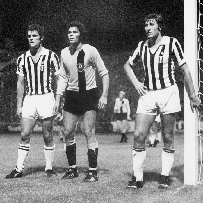 Capello e Marchetti a guardia della porta bianconera nello sfortunato match di Dresda