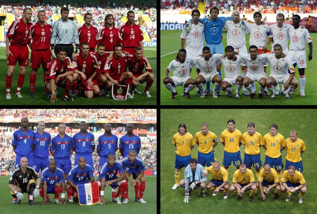 Quattro protagonisti di Euro 2004: la sorpresa-Lettonia, l'Olanda, la Francia e la Svezia