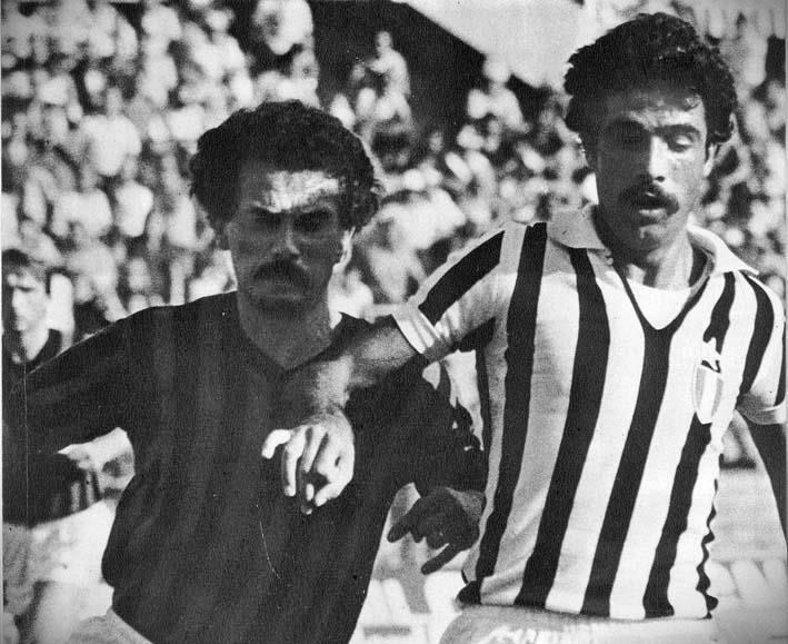 Juventus - Foggia 6-0, Virdis contrastato da Sali