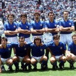 1986 World Cup Finals, Puebla, Mexico, 5th June 1986, Italy 1 v Argentina 1, The Italian team line up before the match