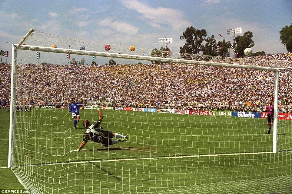 Il rigore fallito da Roberto Baggio
