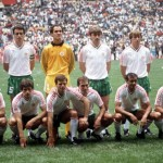 1986 World Cup Finals, Azteca Stadium, Mexico, 31st May 1986, Italy 1 v Bulgaria 1, The Bulgaria team group before the match