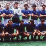 1986 World Cup Finals, Azteca Stadium, Mexico, 31st May, 1986, Italy 1 v Bulgaria 1, Italy pose for a team group before the match