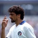 Sport. Football. 1986 World Cup Finals. Puebla, Mexico. 10th June 1986. Group A. South Korea 2 v Italy 3. Italy's Alessandro Altobelli.